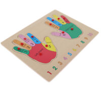 Kids Early Educational Wooden Toy Baby Finger Cognition Hand Wood Puzzle