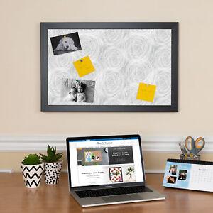 ArtToFrames Custom Cork Bulletin Board Abstracts Framed in Satin Black