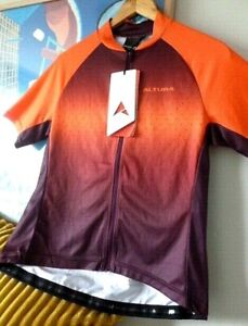 NWT Womens ALTURA coral/plum cycling zipped top. Size UK 14