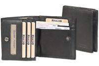 Rinaldo® kleine Geldbörse mit großem Hartgeldfach - Wiener Schachtel in Schwarz