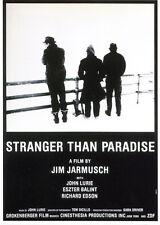 044 CARTE POSTALE film STRANGER THAN PARADISE de Jim Jarmusch