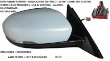 SPECCHIO RETROVISORE DESTRO 802391 LAND ROVER EVOQUE 2011 2014 12PIN C/MEM LED