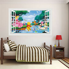 Disney Characters Window View Wall Removable Art Wall Sticker Size 60x90cm