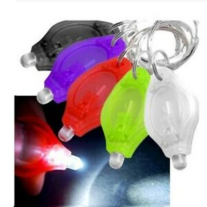 5pcs Mini Bright Flashlight Keyring LED Light Torch Keychain Camping Hiking