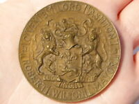 1909 Town Hall Opening in Lancaster Commemorative Medal Bronze #Q18