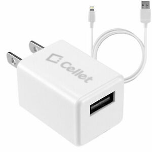 Apple Lightning USB Data Cable Power Adapter Charger Cord iPhone 12 11 Pro Max X