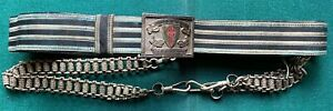 Antique Masonic Knights Templar Red Cross Belt Buckle In Hoc Signo Vinces