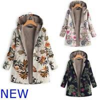 Warm Winter Padded Coat Hooded Jacket New Fluffy Floral Women's Outwear Parka