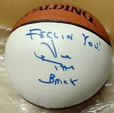 "VIC ""The Brick"" JACOBS  Autographed NBA Spalding Mini Basketball LAKERS"