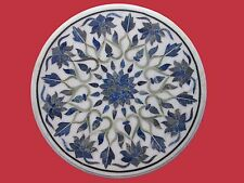 Marble Center Coffee Table Top Lapis Inlay Handmade Work Home And Garden
