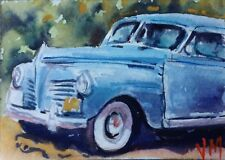 """Antique Car""Fine Art Original collectible art card Watercolor Aceo"