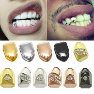 Comfort Custom 14k Gold Plated Small Single Tooth Cap Grillz Hip Hop Teeth Grill