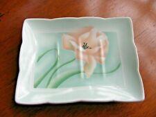 Floralace Pink Green Floral Soap Dish Vintage Andre Richard Co 1988 Japan