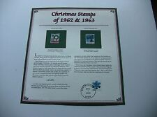 4 Cent 1962 Wreath and Candles and 1963 National Christmas Tree Christmas Stamps