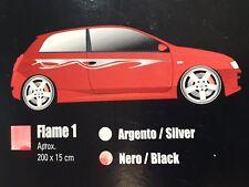 Adesivo Fiamma 3 COFANO cm 50x45 auto tuning adesivi fiamme car stickers decals