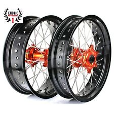 "KTM Supermoto 17"" & 17"" Complete Wheel Set SX SXF EXC 125-530 03-14"
