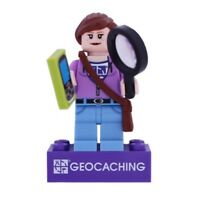 Hidey Finder with Trackable Brick Geocaching Geocoin trackable