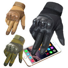 Tactical Gloves Full Finger Hard Knuckle Airsoft Motorcycle Cycling Touch Screen