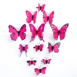 2/12PCS Butterfly Hair Clips Barrette Bridal Hairpins Headwear Wedding Costume