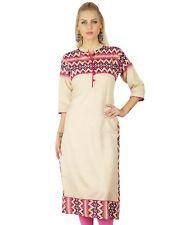 Bimba Women Rayon Kurta Kurti Ethnic Indian 3/4 Sleeve Top Casual Formal Tunic