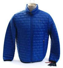 Tommy Hilfiger Blue Zip Front Box Quilted Packable Puffer...