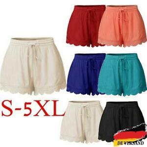 Damen Freizeithose Spitze Kurze Hose Sommer Basic Shorts Hotpants Sporthose