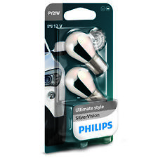 Philips SilverVision Silver Vision PY21W Indicator Car Globes (Twin)