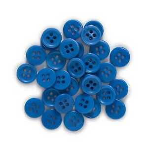 100pcs Blue Resin buttons Sewing Scrapbooking Clothing Home Decor 10mm