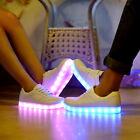 LED Flashing Light Lace Up Luminous Shoes Men Women Sportswear Casual Sneakers
