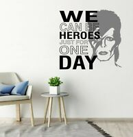 DAVID BOWIE WE CAN BE HEROES WALL STICKER VINYL MURAL DECAL TRANSFER ICONIC