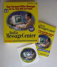 Hotfax Message Center 4 w/ Manual PC CD communications suite, send faxes thru PC