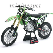 NEW RAY 49493 TWO TWO KAWASAKI KX 450F #22 DIRT BIKE MOTORCYCLE 1/6 CHAD REED