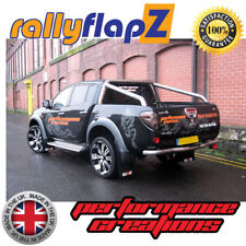 rallyflapZ MITSUBISHI L200 Triton 4th Gen 05-15 4mm Black RALLIART W R&O Qty x 4