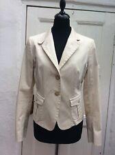 MAX MARA Made In Italy Women's Cream Stretch Light Blazer Jacket UK12,US8