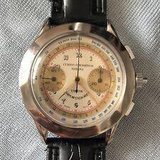 RARE Vintage Cuervo y Sobrinos  Chronograph SS Fancy Case