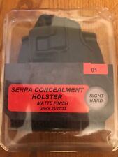 Blackhawk Glock 26 27 Cqc Matte Black Serpa Holster Paddle & Belt Loop