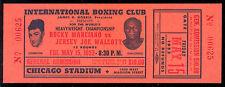 1953 ROCKY MARCIANO vs JERSEY J WALCOTT NM UNUSED FULL BOXING TICKET IN CHICAGO