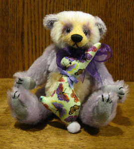 "DEB CANHAM ARTIST DESIGNS Inbetweenies, LOU LOU 7"" fully jointed Mohair LE Panda"