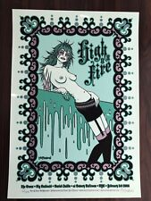 Tara McPherson High on Fire 5 Color Silkscreen Limited Edition 60/300
