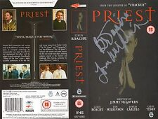 Tom Wilkinson signed VHS sleeve Priest Rush Hour The Full Monty In the Bedroom