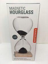 "Kikkerland Magnetic Sand Hourglass 1 Minute Timer 6"""