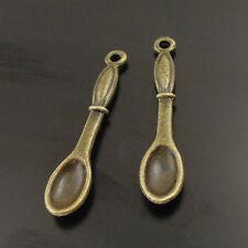 30PCS Antique Bronze Charms Cute Spoon Charm Pendant 01719