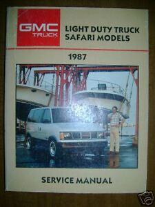 1987 GMC Light Duty Truck Safari Model Repair Manual