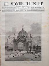LE MONDE ILLUSTRE 1888 N 1629 EXPOSITION UNIVERSELLE DE 1889, LE DOME CENTRAL
