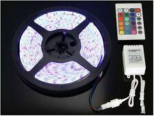STRISCIA LED RGB SMD3528 150 LED BOBINA + ALIMENTATORE + TELECOMANDO