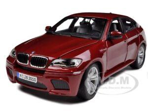 2011 2012 BMW X6 M X6M DARK RED 1/18 DIECAST MODEL CAR BY BBURAGO 12081
