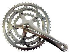 Alloy / Steel bike cycle road triple crank crankset chainwheel 30/42/52 x 170mm
