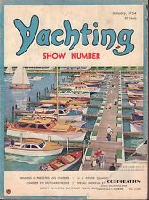 Yachting January 1954 Show Number Outboard Cruisers, Log Contests 042817nonDBE