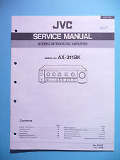 Service Manual Instructions for Jvc Ax-311 Bk, Original