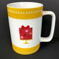 Cake Boss Gold and White Porcelain Mug 2013 Icing Cake Red Cocoa Tea Coffee Cup